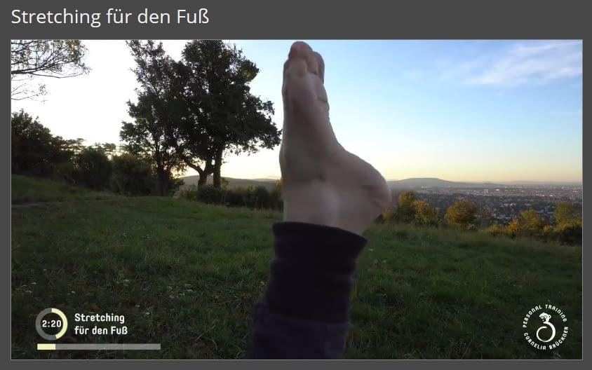 Mitglieder-Bereich Stretching für den Fuß