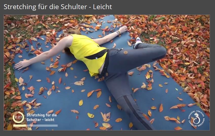 Mitglieder-Bereich Schulterstretching
