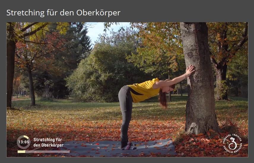 Mitglieder-Bereich Stretching für den Oberkörper