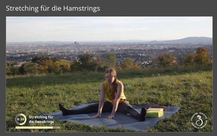 Mitglieder-Bereich Hamstringstretching