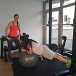 Stabilitätsübung Gymnastikball