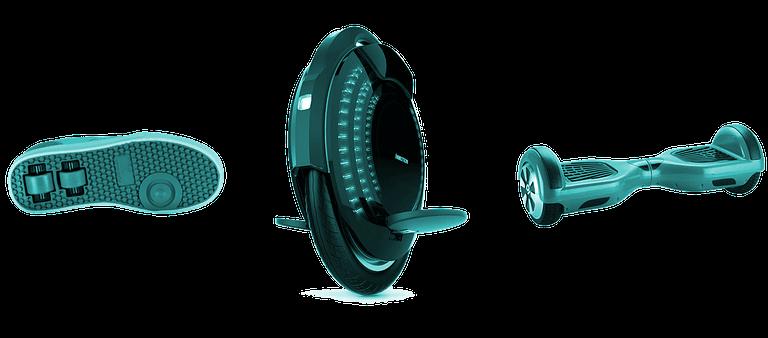 Monowheeler Fersenroller Balanceboard