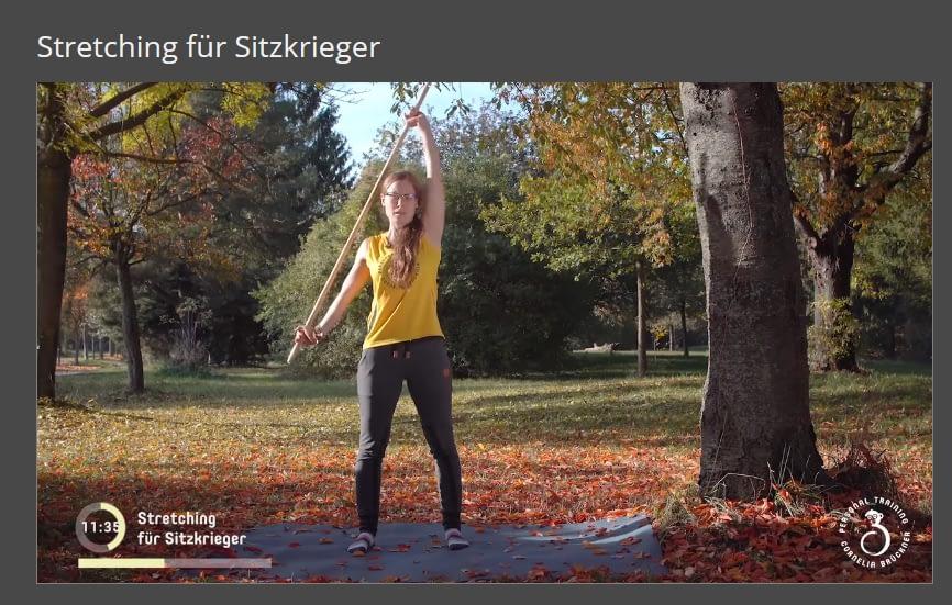 Mitglieder-Bereich Stretching für Sitzrkieger