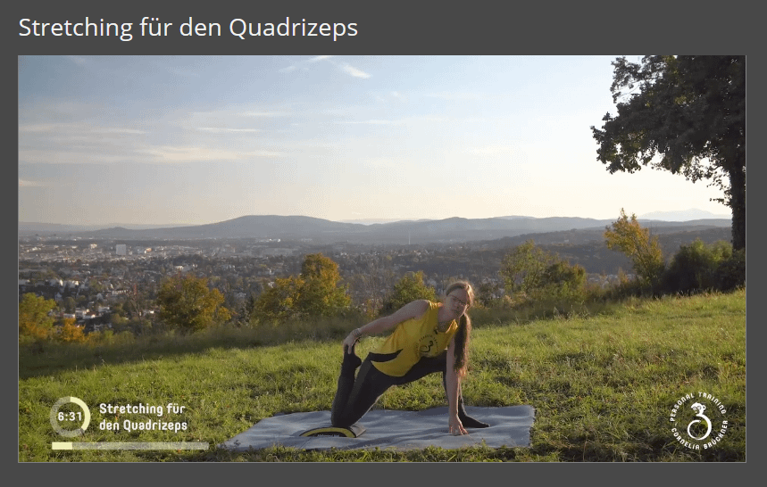 Mitglieder-Bereich Quadrizepsstretching